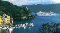 Luxury Cruises Single Crystal Cruises in Portofino, Italy
