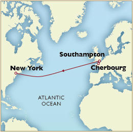 Luxury Cruises Single Map