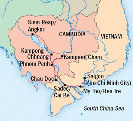 SINGLE Cruise - Balconies-Suites Lindblad Cruises Jahan February 25 March 10 2015 Ho Chi Minh City, Vietnam to Siem Reap, Cambodia