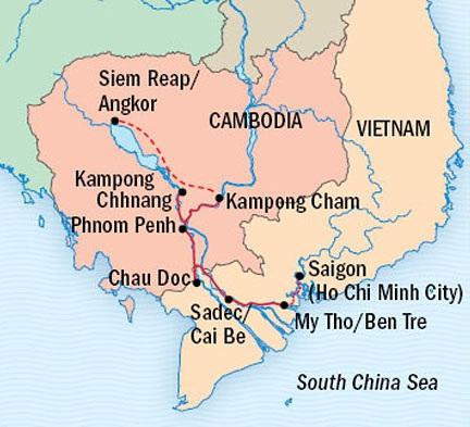 LUXURY CRUISE - Balconies-Suites Lindblad Cruises Jahan January 20 February 7 2015 Siem Reap, Cambodia to Ho Chi Minh City, Vietnam