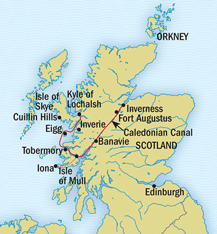 LUXURY CRUISE - Balconies-Suites Lindblad Lord of the Glens July 26 August 3 2015 Inverness, United Kingdom to Inverness, United Kingdom