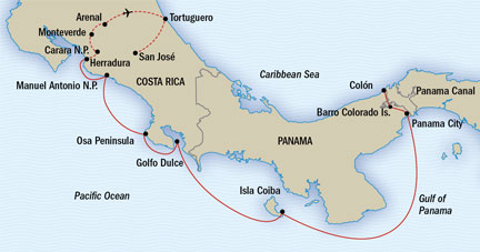 SINGLE Cruise - Balconies-Suites Lindblad National Geographic NG CRUISE Sea Lion March 12-27 2019 Panama City, Panama to San Jose, Costa Rica