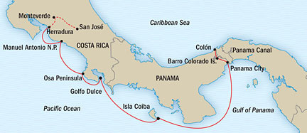 SINGLE Cruise - Balconies-Suites Lindblad National Geographic NG CRUISES Sea Lion March 2-12 2019 San Jose, Costa Rica to Panama City, Panama