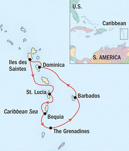 LUXURY CRUISE - Balconies-Suites Lindblad Sea Cloud March 12-19 2015 Bridgetown, Barbados to Bridgetown, Barbados