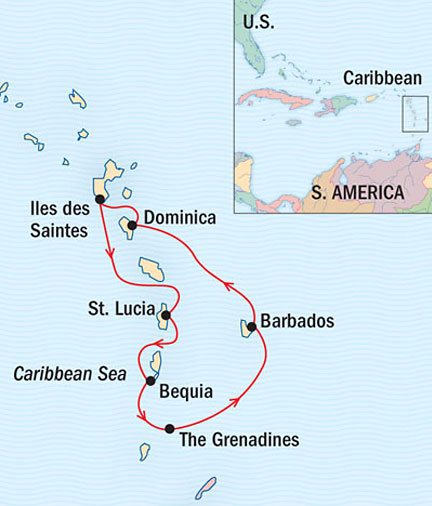 SINGLE Cruise - Balconies-Suites Lindblad Sea Cloud March 5-12 Ship Bridgetown, Barbados to Bridgetown, Barbados