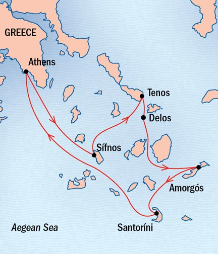 SINGLE Cruise - Balconies-Suites Lindblad Sea Cloud September 19-27 Ship Athens, Greece to Piraeus, Greece