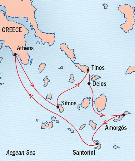 Singles Cruise - Balconies-Suites Lindblad Sea Cloud July 18-25 2019 Athens, Greece to Piraeus, Greece