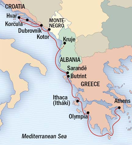 Singles Cruise - Balconies-Suites Lindblad Sea Cloud June 11-21 2019 Athens, Greece to Dubrovnik, Croatia