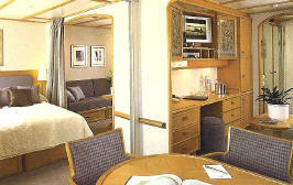 Charters, Groups, Penthouse, Balcony, Windows, Owner Suite, Veranda - Luxury Seadream Cruises Cruises: Commodore Club Suite