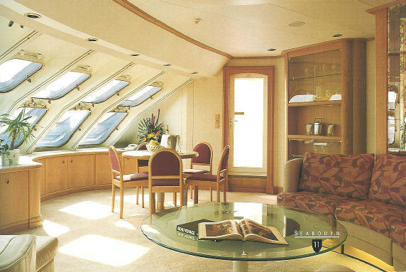 Seabourne owner` s suite on deck 6