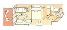 CRUISES - Balconies/Suites Silversea Cruises Veranda Suite Diagram