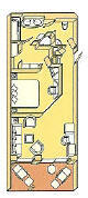 Single Balconies/Suites Silversea Cruises Medallion Suite Diagram