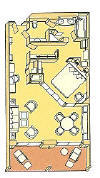 Single Balconies/Suites Silversea Cruises Silver Suite Diagram