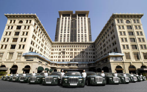 A fleet of Rolls Royce chariots stand at the ready to transport guests through the many discoveries in Hong Kong (photo courtesy The Peninsula Hotels)