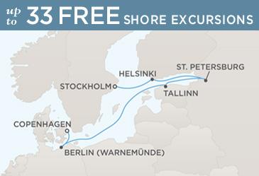 Radisson Seven Seas Cruises Voyager 2021 Map STOCKHOLM TO COPENHAGEN
