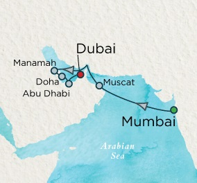 LUXURY CRUISES - Balconies and Suites Crystal Serenity April 15-26 2018 Mumbai, India to Dubai, United Arab Emirates