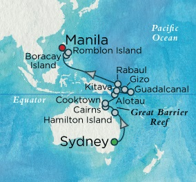 World CRUISE SHIP BIDS - Crystal Serenity February 17 March 12 2022 Sydney, Australia to Manila, Philippines