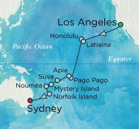 SINGLE Cruise - Balconies-Suites Crystal Serenity January 23 February 17 2018 Los Angeles, CA, United States to Sydney, Australia