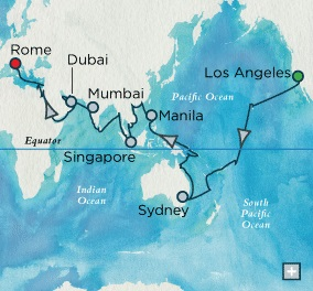 Crystal Luxury Cruises Serenity January 23 May 16 2025 Los Angeles, CA, United States to Civitavecchia, Italy