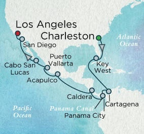 SINGLE Cruise - Balconies-Suites Crystal Serenity January 3-23 2021 Charleston, South Carolina, SC, United States to Los Angeles, CA, United States