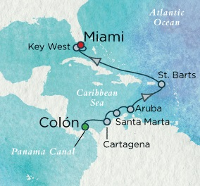 Crystal Symphony April 19-30 2018 Colón, Panama to Miami, FL, United States