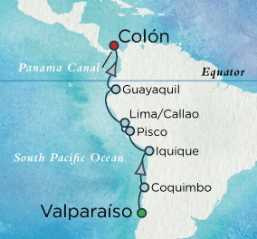 LUXURY WORLD CRUISES Crystal Symphony April 6-19 2018 Valparaíso, Chile to Colón, Panama