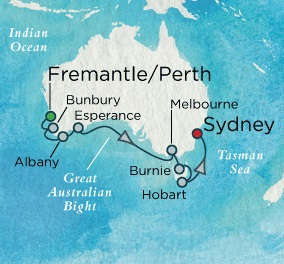 Crystal Symphony February 5-17 2018 Fremantle, Australia to Sydney, Australia