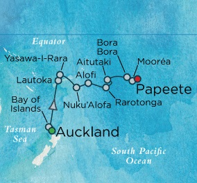 Crystal Luxury Cruises Symphony March 3-18 2018 Auckland, New Zealand to Papeete, Tahiti, Society Islands
