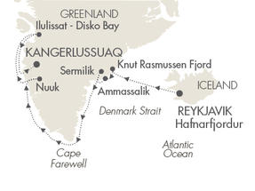 World CRUISE SHIP BIDS L Austral August 3-16 2023 Reykjavík, Iceland to Kangerlussuaq, Greenland