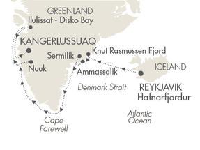 Singles Cruise - Balconies-Suites Cruises L Austral August 3-16 2019 Reykjavík, Iceland to Kangerlussuaq, Greenland