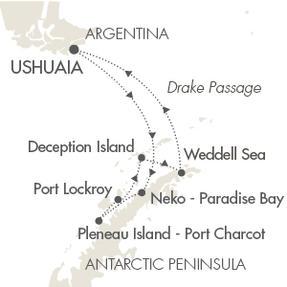 World CRUISE SHIP BIDS L Austral January 18-28 2023 Ushuaia, Argentina to Ushuaia, Argentina