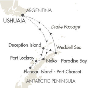 World CRUISE SHIP BIDS L Austral January 8-18 2023 Ushuaia, Argentina to Ushuaia, Argentina