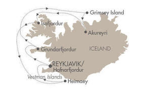 World CRUISE SHIP BIDS L Austral July 13-20 2023 Reykjavík, Iceland to Hafnarfjördur, Iceland