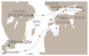 SINGLE Cruise - Balconies-Suites CRUISE L Austral June 1-8 2019 Copenhagen, Denmark to Stockholm, Sweden