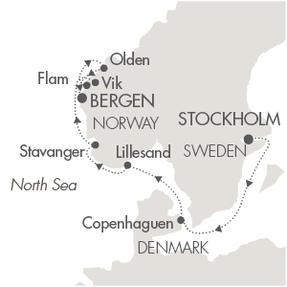 Singles Cruise - Balconies-Suites Cruises L Austral June 22-29 2019 Stockholm, Sweden to Bergen, Norway