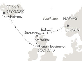 SINGLE Cruise - Balconies-Suites Cruises L Austral June 29 July 6 2019 Bergen, Norway to Reykjavík, Iceland
