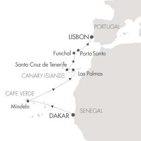 SINGLE Cruise - Balconies-Suites CRUISE L Austral March 24 April 3 2019 Dakar, Senegal to Lisbon, Portugal