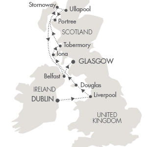 LUXURY CRUISE - Balconies-Suites Cruises L Austral May 17-25 2019 Dublin, Ireland to Glasgow, United Kingdom