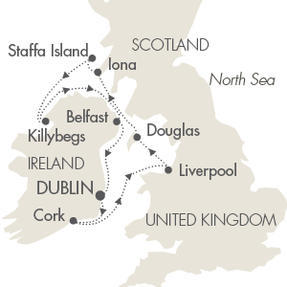 LUXURY CRUISE - Balconies-Suites Cruises L Austral May 9-17 2019 Dublin, Ireland to Dublin, Ireland