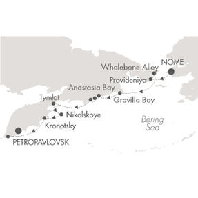 World CRUISE SHIP BIDS L Austral September 7-21 2023 Nome, AK, United States to Petropavlovsk-Kamchatskiy, Russia
