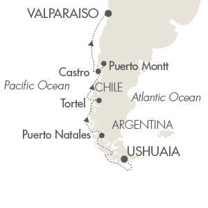 LUXURY WORLD CRUISES - Penthouse, Veranda, Balconies, Windows and Suites Cruises Le Boreal February 27 March 11 2019 Ushuaia, Argentina to Valparaíso, Chile