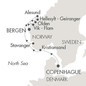 LUXURY WORLD CRUISES - Penthouse, Veranda, Balconies, Windows and Suites Cruises Le Boreal July 1-8 2019 Copenhagen, Denmark to Bergen, Norway