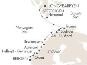 LUXURY CRUISES - Penthouse, Veranda, Balconies, Windows and Suites Cruises Le Boreal July 8-20 2019 Bergen, Norway to Longyearbyen, Svalbard And Jan Mayen