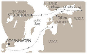 Single-Solo Balconies-Suites CRUISE Le Boreal June 24 July 1 2023 Stockholm, Sweden to Copenhagen, Denmark