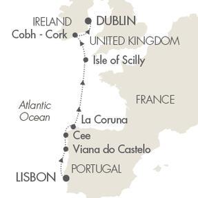 Single-Solo Balconies-Suites CRUISE Le Boreal May 9-16 2023 Lisbon, Portugal to Dublin, Ireland