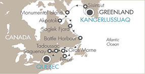 LUXURY CRUISES - Penthouse, Veranda, Balconies, Windows and Suites Cruises Le Boreal September 8-21 2019 Kangerlussuaq, Greenland to Québec City, Canada