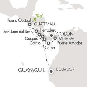 Deluxe Honeymoon Cruises Le Boreal March 30 April 12 2021 Guayaquil, Ecuador to Colón, Panama