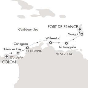 Single-Solo Balconies-Suites CRUISE Le Boreal April 12-19 2022 Colón, Panama to Fort-de-France, Martinique