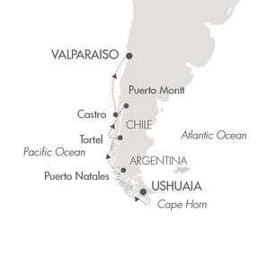 World CRUISE SHIP BIDS Le Boreal February 5-18 2022 Ushuaia, Argentina to Santiago (Valparaiso), Chile