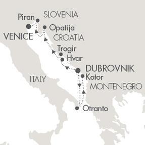 Singles Cruise - Balconies-Suites Cruises Le Lyrial April 29 May 6 2019 Civitavecchia, Italy to Dubrovnik, Croatia